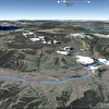 La Lamar Valley, sur Google Earth