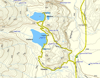notre rando, départ Taggart Creek, tour jusqu'à Taggart Lake, puis Bradley Lake et retour par le Bradley lake trail
