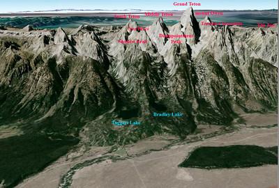 les lacs vus par Google Earth