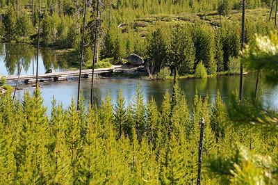 Un trés joli petit pont enjambe le bout du lac . Par contre, c'est infésté de moustiques, qui rigolent quant on met du répulsif!!