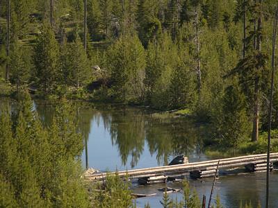 Le pont sur la Taggart Creek