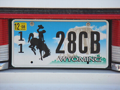 belle, la plaque du Wyoming
