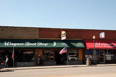 la rue principale de Cody, c'est comme dans les films!